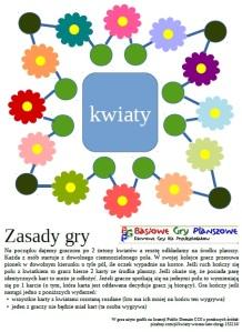"""Gra planszowa """"Kwiaty"""""""